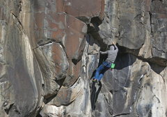 Rock Climbing Photo: Nick Vitali, Gang Bang, 10b (Nov 2015)