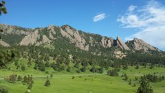 Rock Climbing Photo: View from NCAR
