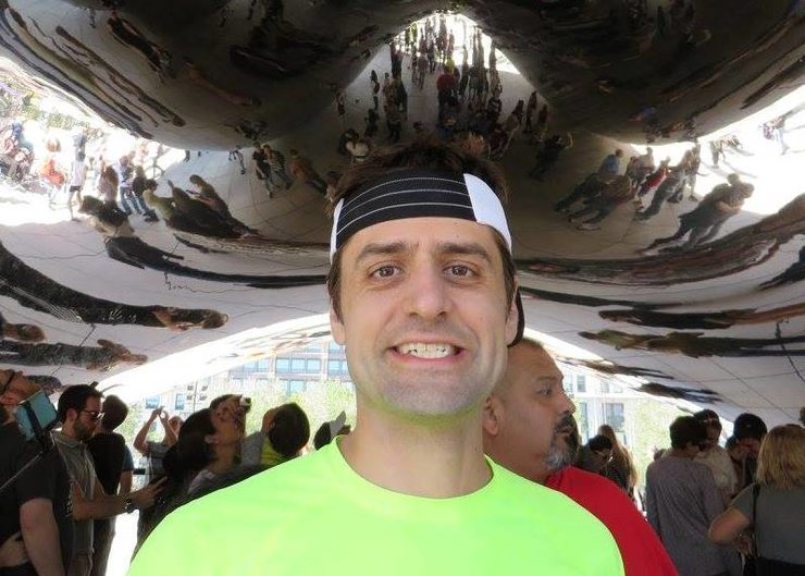 Under the bean after the Chicago Marathon