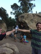 Rock Climbing Photo: Ja and Dry Bong ....   happy times
