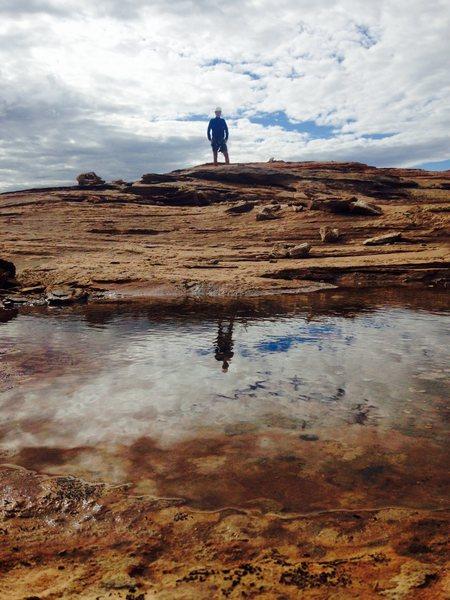 Rock Climbing Photo: Summit reflection
