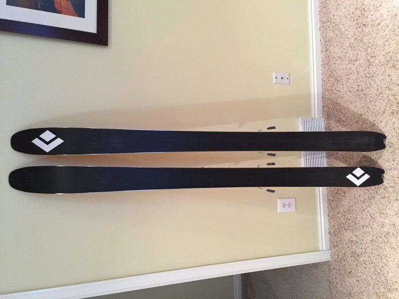 Black Diamond Link 95 180cm skis w/ dynafit radical TLT bindings and skins