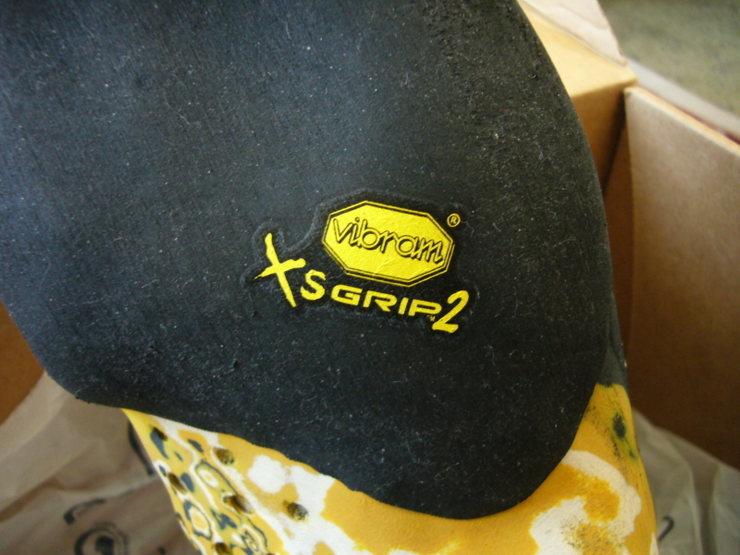 Rock Climbing Photo: Sticky Vibram XSGrip2 rubber