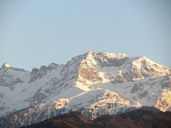 Rock Climbing Photo: Belledonne range at sunset as seen from home in St...