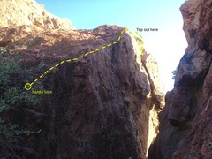 Rock Climbing Photo: Beta for L to R Chasm Traverse