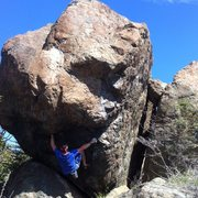 Rock Climbing Photo: The full Boulder have  3 sides with 3 different ro...