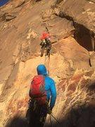 Rock Climbing Photo: Craig headed off on a brisk November morning