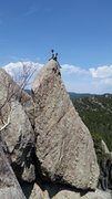 Rock Climbing Photo: Charles and I hanging out on the summit of Hornet'...