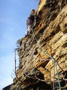 Rock Climbing Photo: P3 Bombs away, Suck Creek Canyon. One hell of a da...