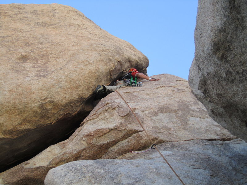 Rock Climbing Photo: squirming my way up!