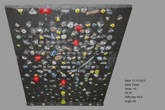 Rock Climbing Photo: V5-6  60 degrees = 30 degrees from 0. I measure fr...