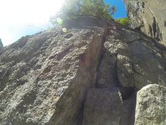 Rock Climbing Photo: Diagonal Chockstone Chimney