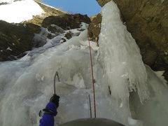 Rock Climbing Photo: Start of P1 (or P2 depending on how you break it d...