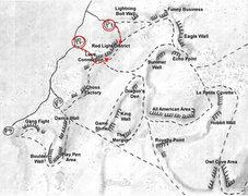 Rock Climbing Photo: Red Light District Access Map
