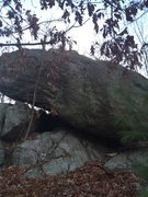 Rock Climbing Photo: Why it is called Slanted Boulder.