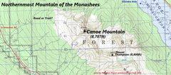 Rock Climbing Photo: Canoe Peak northernmost summit of the Monashees