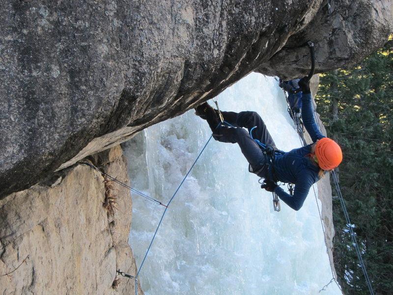 Rock Climbing Photo: Ryan Bogus on the FA of Fir Hang.