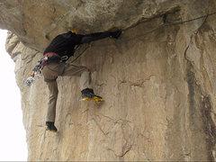 Rock Climbing Photo: Ryan focusing on very thin feet and pick torques o...