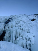 Rock Climbing Photo: Looking up at the falls from a ledge at the halfwa...