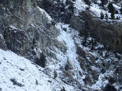 Rock Climbing Photo: Tatum Falls from the top of Horseshoe Falls.