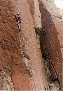 Rock Climbing Photo: Climber in the front on Wedding Day. Early 80's. C...