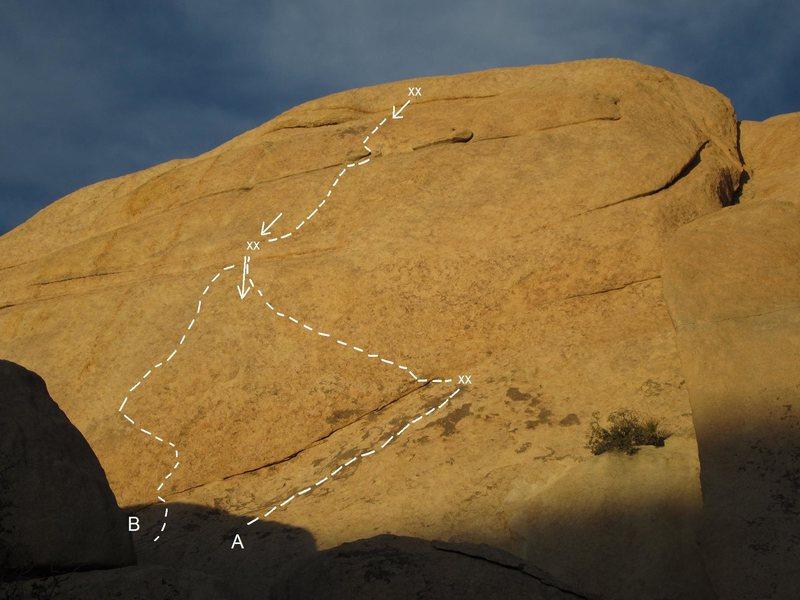 Rock Climbing Photo: A. Sky's the Limit B. Skyfall