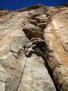 Rock Climbing Photo: Eric Rhicard leading Solar E-Clips.