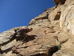 Rock Climbing Photo: Eric Rhicard leading Sunny Side Up. Hardboiled sta...