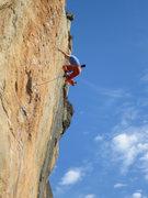 Rock Climbing Photo: Taking the whip on Mandragora.