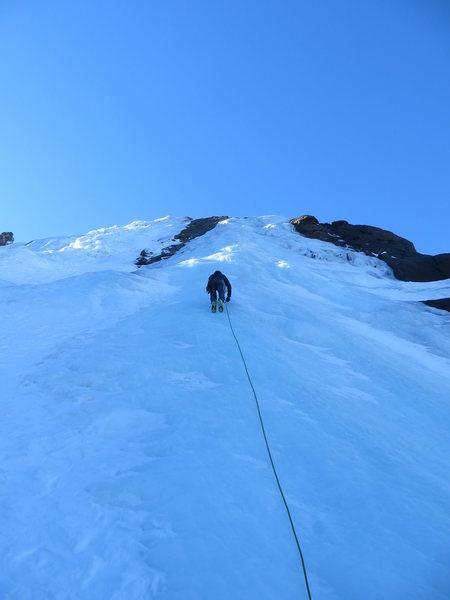 Rock Climbing Photo: Far right side ice slabbage calf pump