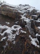 "Rock Climbing Photo: "" Euro choss"" (5.8) sporting some melt f..."