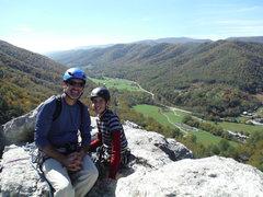 Rock Climbing Photo: Seneca - South Peak with my 16yr old son.