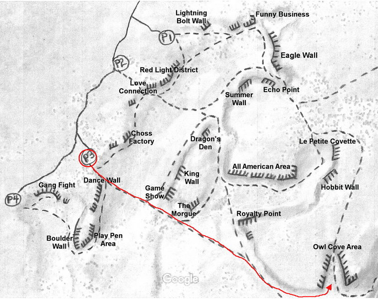 Owl Cove Access Map