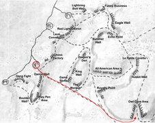 Rock Climbing Photo: Owl Cove Access Map