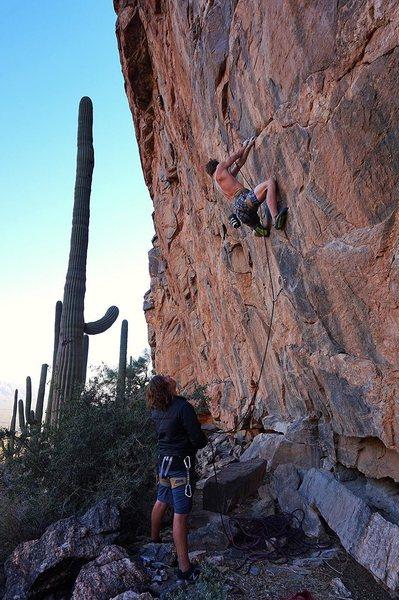 Rock Climbing Photo: Startin up Pina Skullada