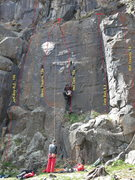 Rock Climbing Photo: A few of the routes on the short wall that has Hol...