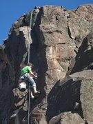 Rock Climbing Photo: Chris Barnes at work on Stonebreaker, 11a.  Instal...