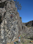 Rock Climbing Photo: John Schmidt, Bolter's Ed, 5.9 (Mar 2014)