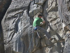Rock Climbing Photo: Chris Barnes, 5.8ish, 5.8 (Sept 2014)