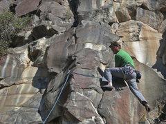 Rock Climbing Photo: Chris Barnes, Puppy Chow, 10a (Sept 2014)
