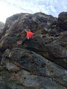 Rock Climbing Photo: Juan Venegas climbing