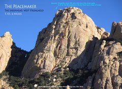 Rock Climbing Photo: Route overlay for The Peacemaker.
