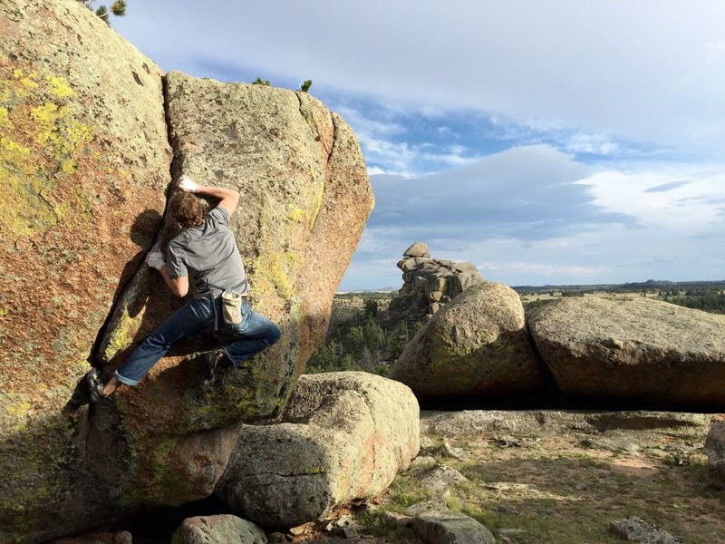 Rock Climbing Photo: Some Remote vedauwoo boulder