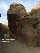 Rock Climbing Photo: The Crippler Is Busted - No More V6 Topo
