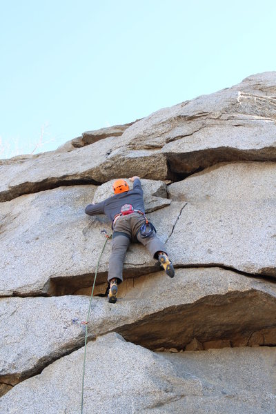 Rock Climbing Photo: Heading up Victim of Gravity, searching for the pl...