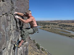 Rock Climbing Photo: Nick Vitali, Toxic Socks Syndrome, 11a (Oct 2013)