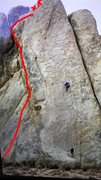 Does anyone know what this route is? New bolts, nice and overhung! I couldn't really tell what it was...maybe felt like 10c?