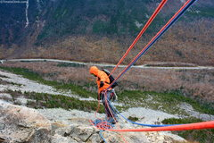 Rock Climbing Photo: Matt Ritter Belaying on Whitney Gilman Ridge