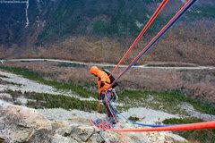 Rock Climbing Photo: Matt Ritter Belaying on Whitney Gilman Ridge