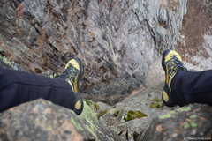 Rock Climbing Photo: A perspective looking down into the black dyke
